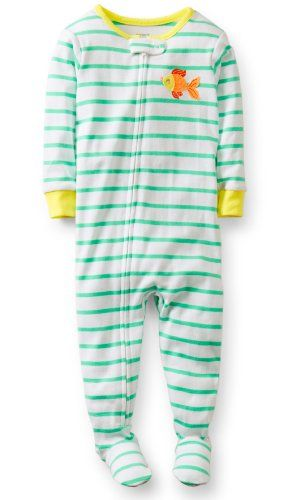 61de382c5ef9 Carter s Baby-girls 1 Pc Fish Footed Cotton Sleeper Pajama 12 Month ...