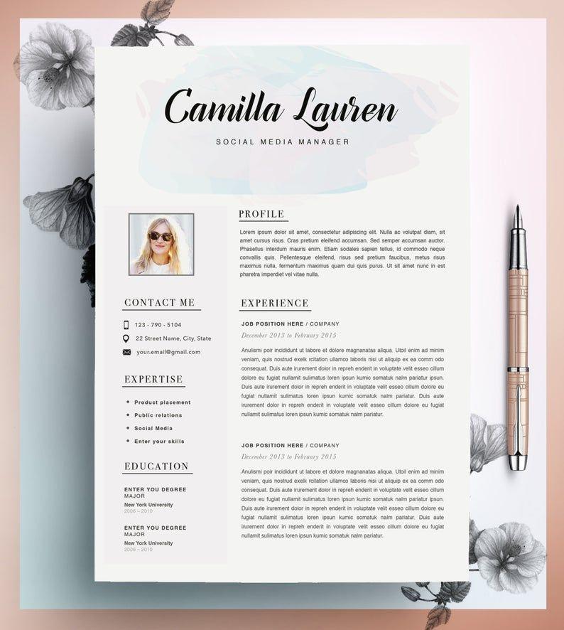 Creative Resume Template Cv Template Instant Download Etsy Creative Resume Creative Resume Templates Resume Design Creative