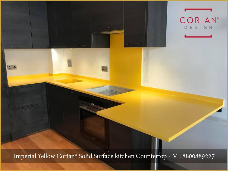 Imperial yellow corian provide solid color & fantastic ...