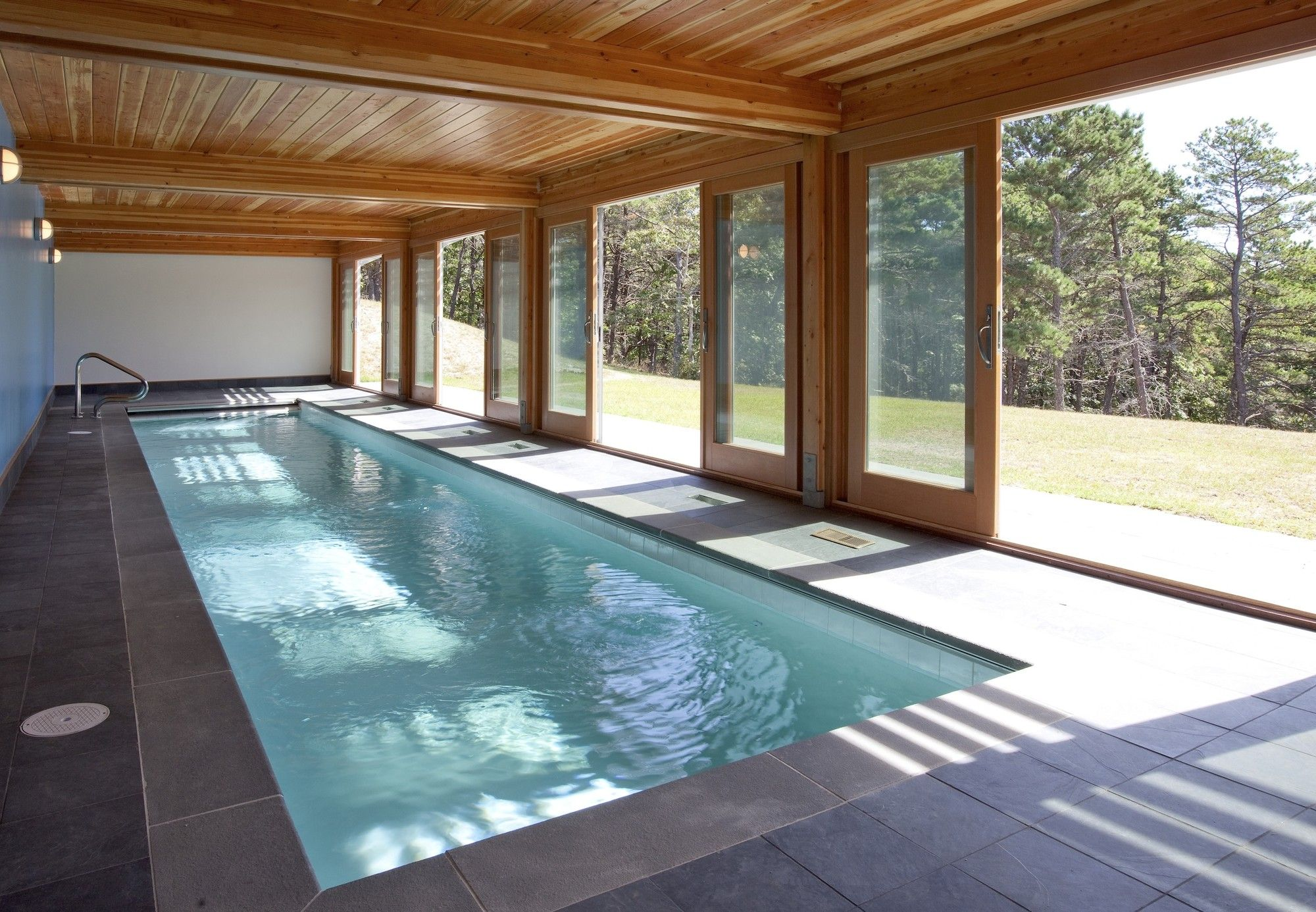 Gallery Of Cape Cod Modern House Addition Hammer Architects 8 Indoor Swimming Pool Design Indoor Pool Design Small Indoor Pool