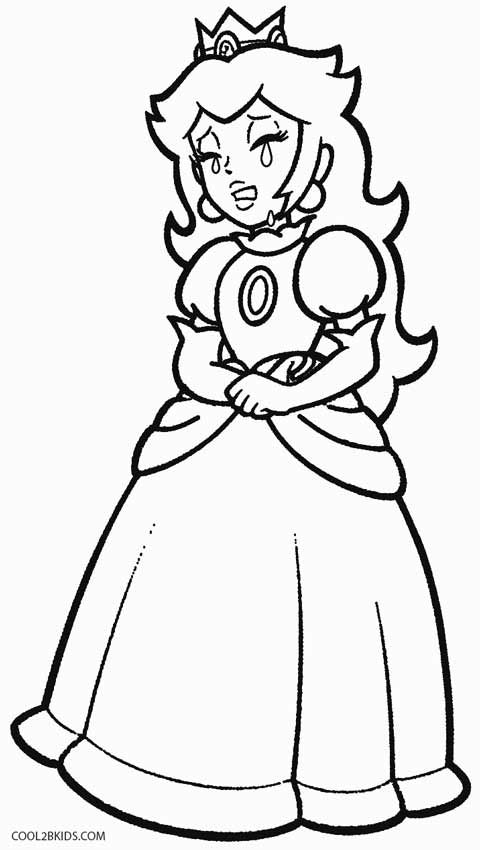 Printable Princess Peach Coloring Pages For Kids Cool2bkids Game