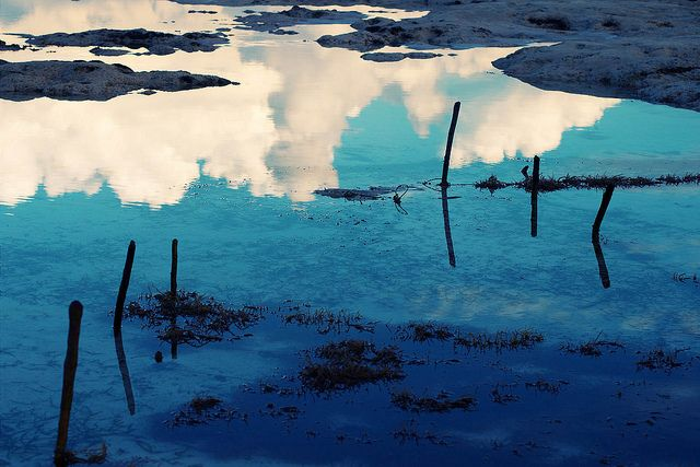 Touch The Clouds  -  Seaweed plantage. Awesome early mornings in Jambiani, Zanzibar, Tanzania Africa