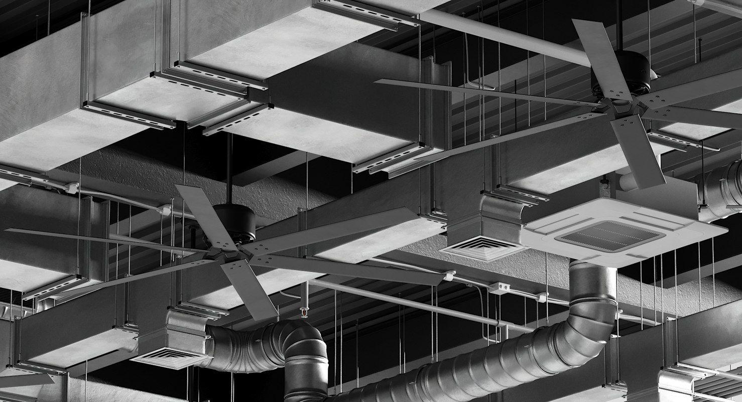 Downloadable 3d Ceiling Ventilation Model Turbosquid