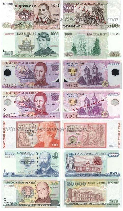 Banco De Chile Pesos Billetes Billetes De Banco Billetes Del Mundo