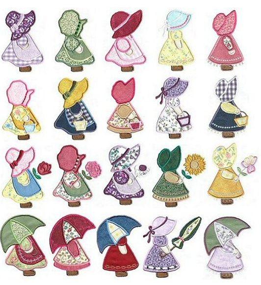 My Sunbonnet Sue designs. | muñecas | Pinterest | Bordado, Costura y ...