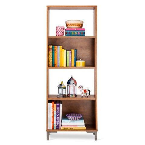Klyne 4-Shelf bookcase - Brown
