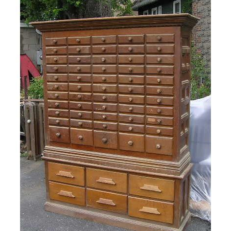 Antique Parts Cabinet - Click To Close Image, Click And Drag To Move. Use Arrow Keys For