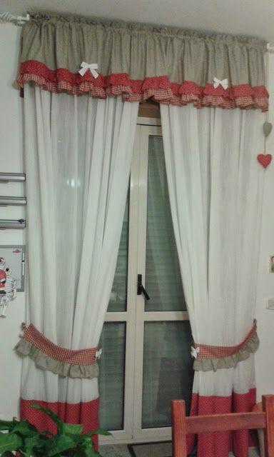 Le cose belle di Neverland: Tende cucina   Кухонные окна   Pinterest