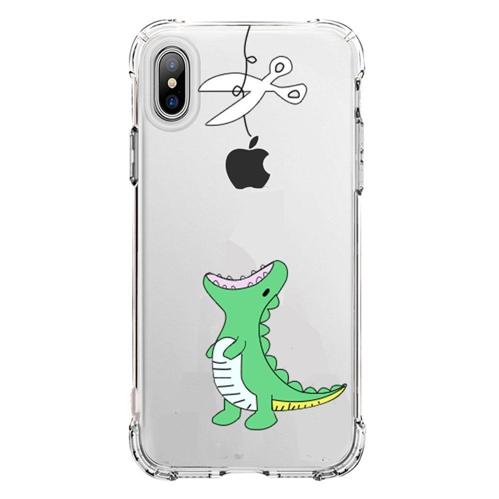 491c2e787b2d iPhone X Case Clear, Amusing Whimsical Design Bumper TPU Soft Case Rubber  Silicone Skin Cover for Apple iPhone X (2017 Release) - Eating Giraffe  (green ...