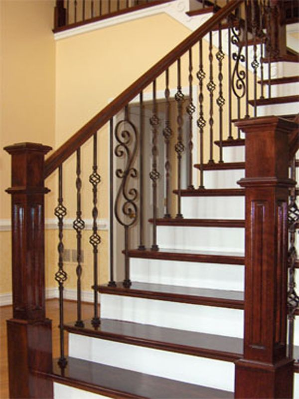 Cherry Wood And Wrought Iron