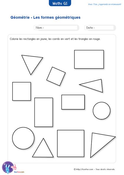 Logique mathematiques maternelle gs geometrie les formes for Base logique