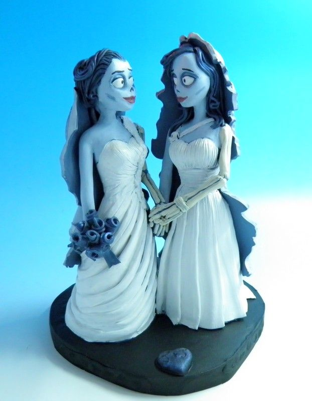 Tim Burton Corpse Brides, personalized wedding cake toppers. www ...