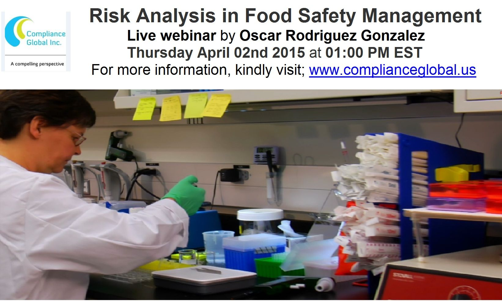 Live ‪‎Webinar‬ ‪‎Risk‬ ‪‎Analysis‬ and Food Safety