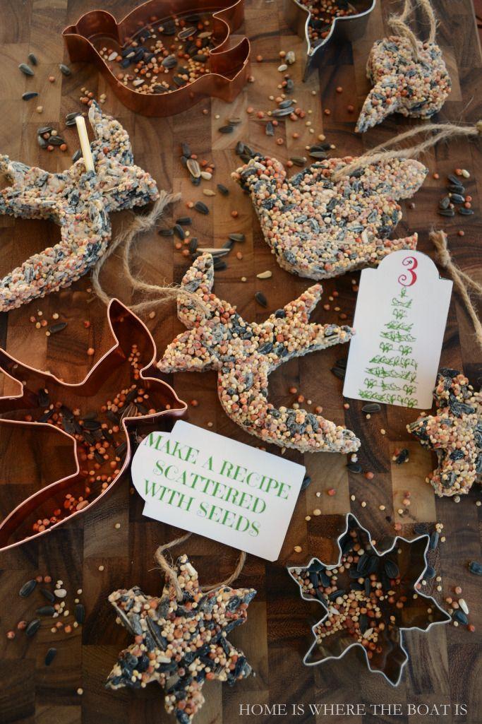 A Tree For The Birds Diy Bird Seed Treats Outdoor Christmas Tree Bird Seed Ornaments Diy Birds