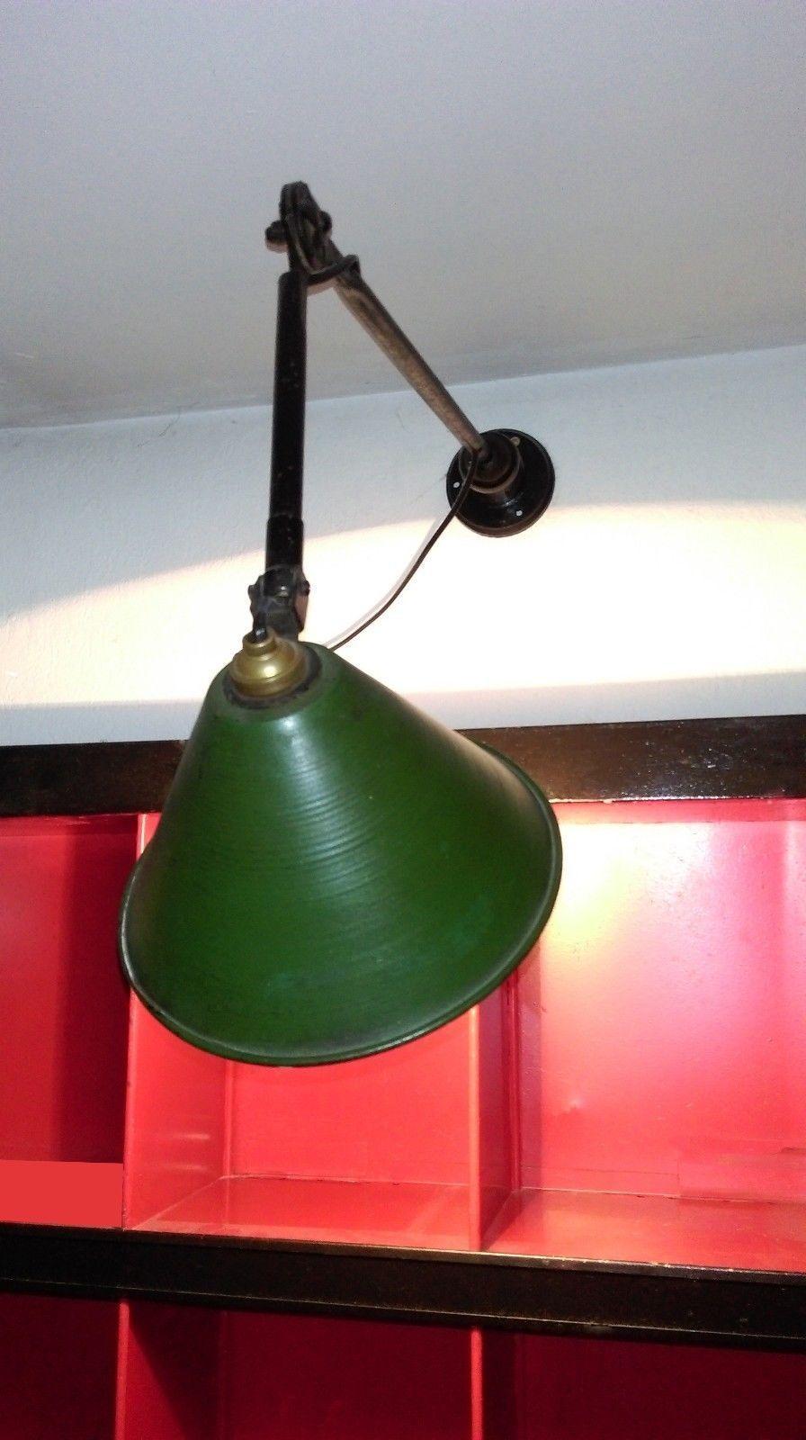 Applique Industrielle Ancienne ancienne lampe industrielle applique à double bras articulés - loft