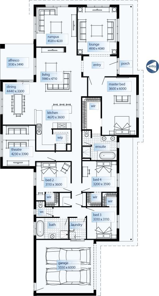Floor Plan Friday Wide Traditional Homestead Layout 9x10bedroomfurniturelayout House Layouts Floor Plans My House Plans