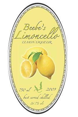 Limoncello Label Templates