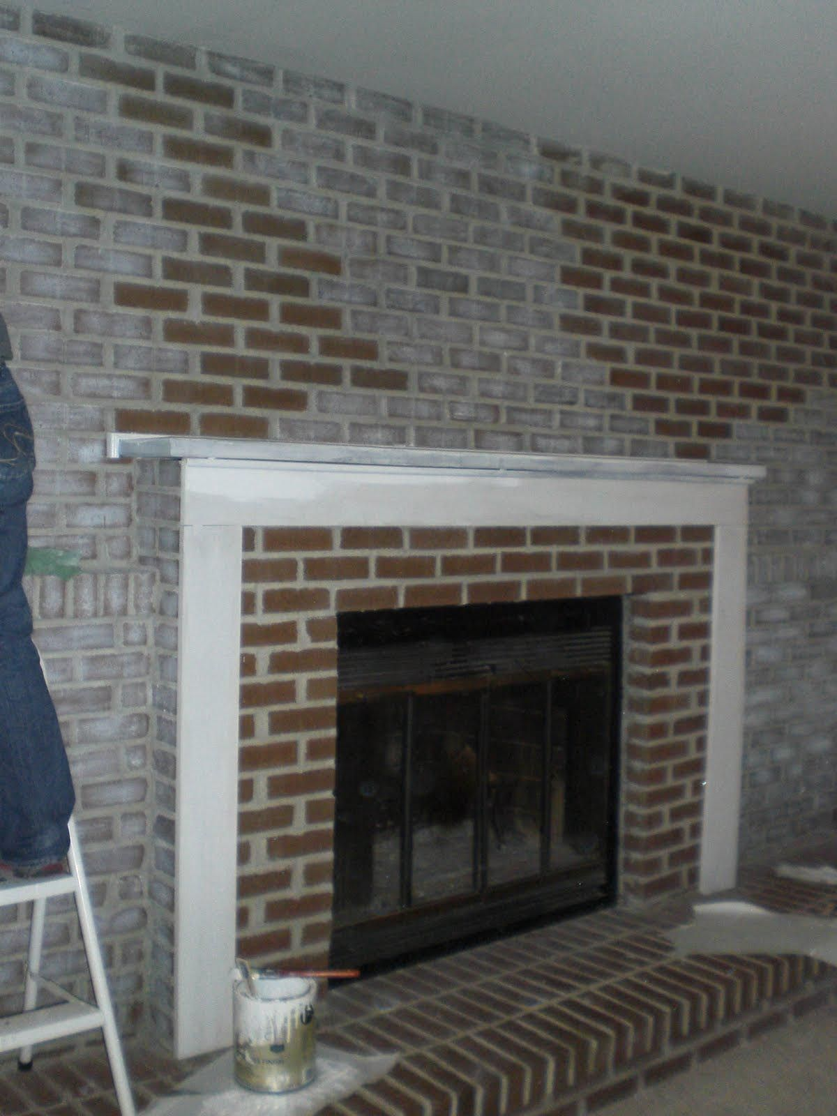 DIY Brick Fireplace Remodel Fireplace Pinterest Brick