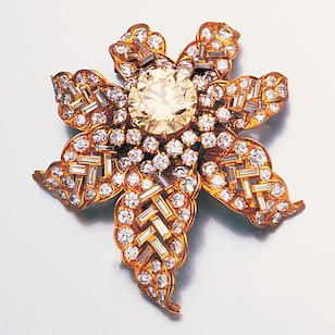 A diamond clip brooch, by Bulgari,