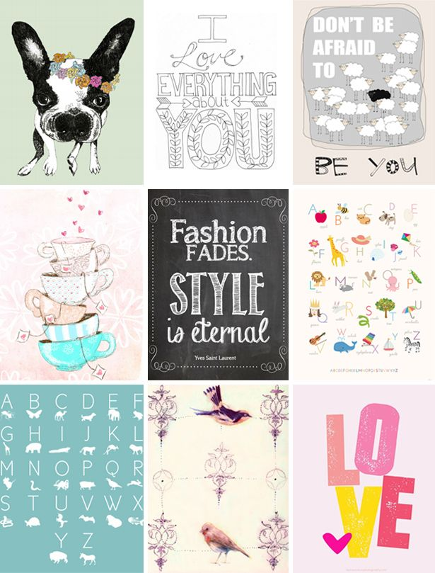 image relating to Printable Posters known as Do it yourself // free of charge printable posters - PS via Dila PS via Dila