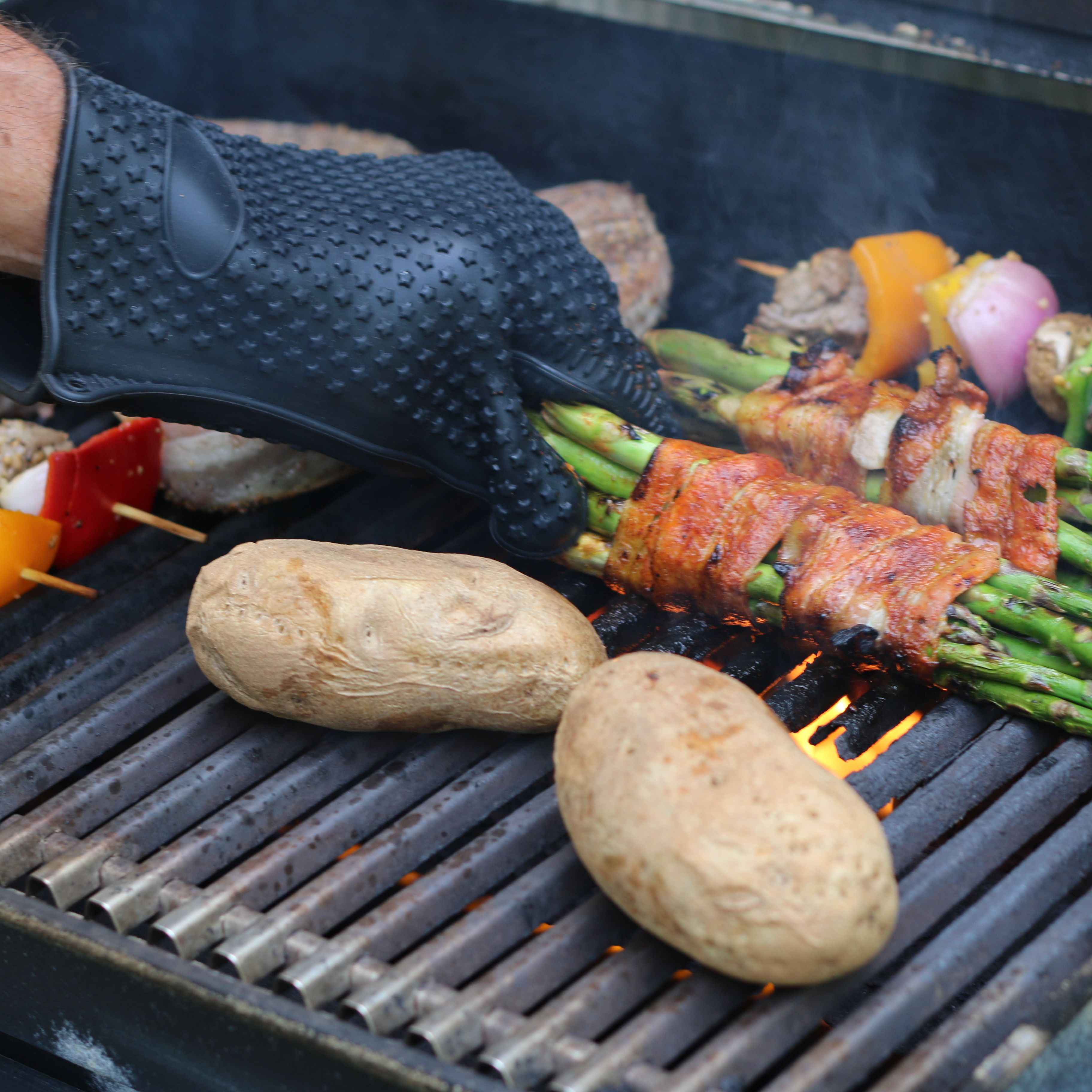 Protect your hands while you grill! Grilling, Household