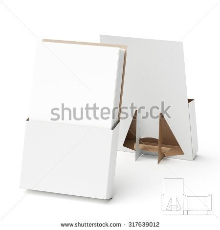 Counter Display Stand with Die Cut Templates for Brochures