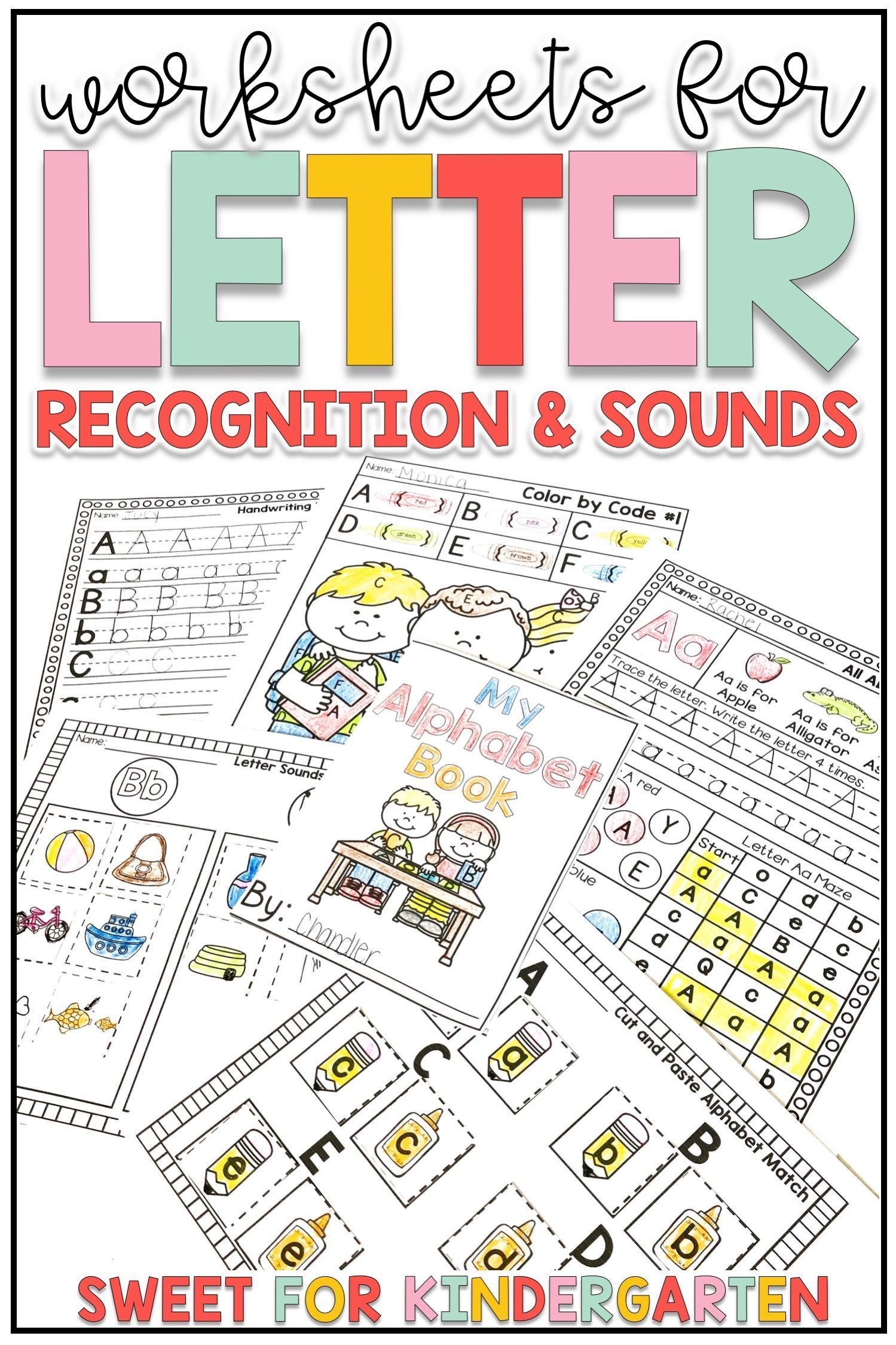 Letter Recognition And Sounds Worksheets Distance Learning