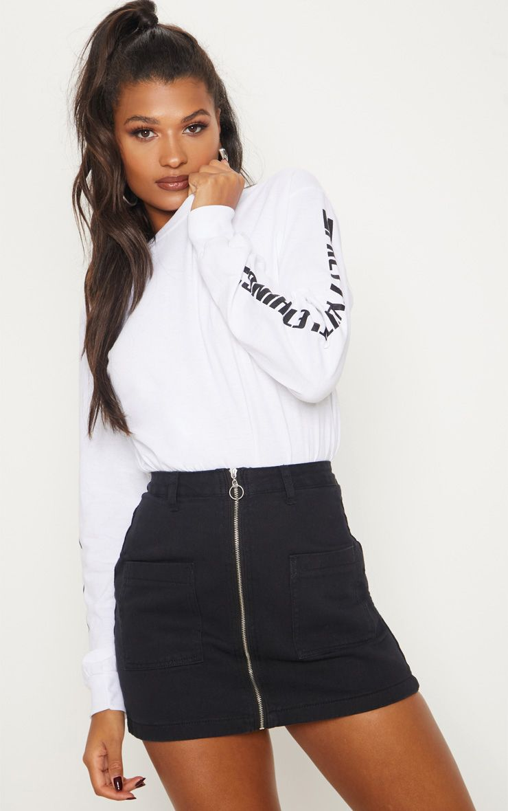 368e5cf961f The Black Front Denim Zip Skirt. Head online and shop this season s range  of denim