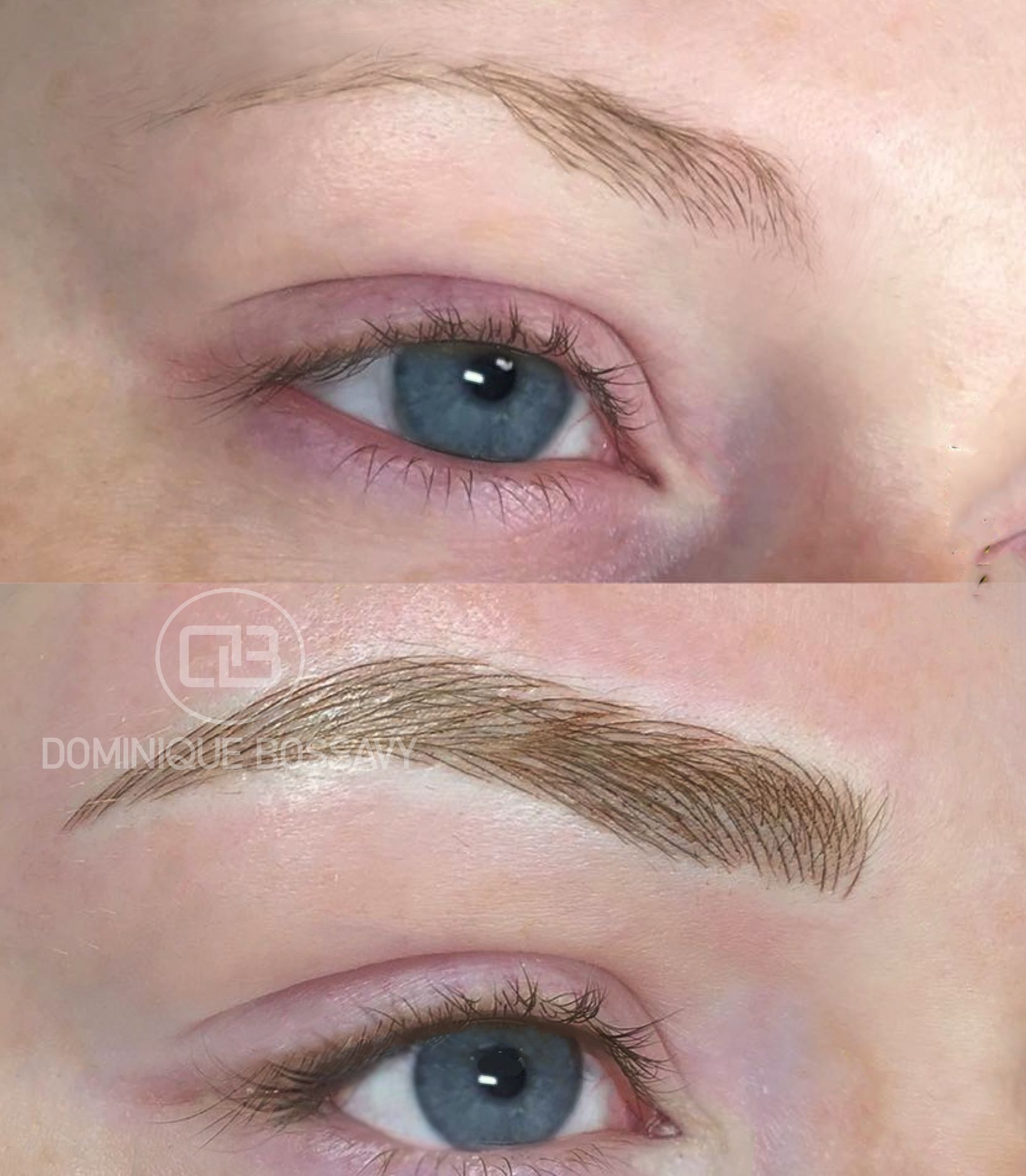 Brows Before + After Nano Color Infusion Permanent Makeup