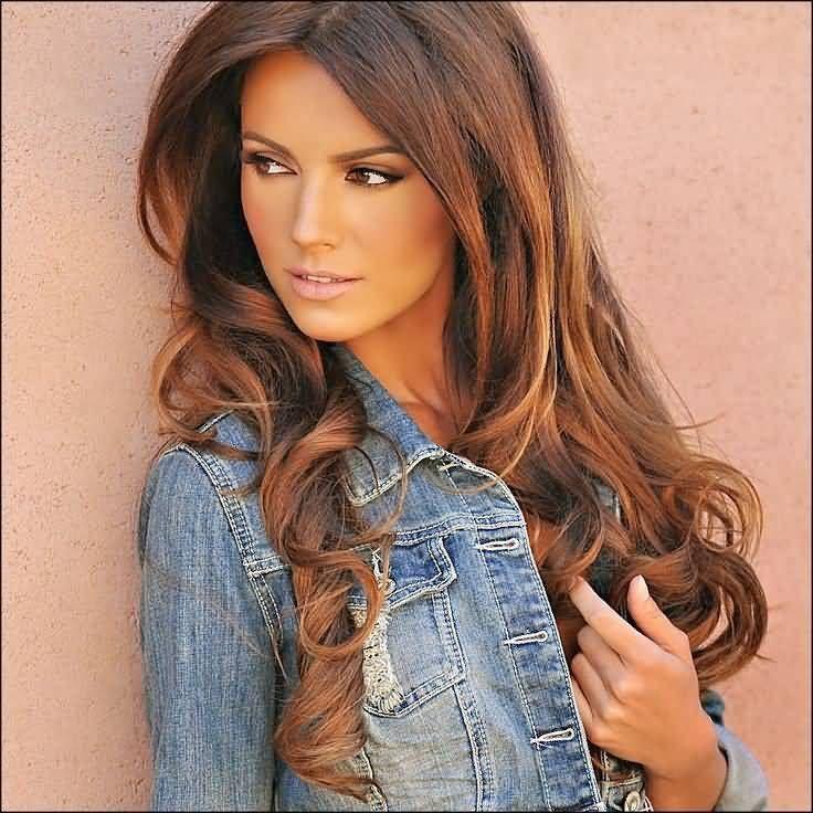 Hair Auburn Highlights and Caramel Hair Color Shade
