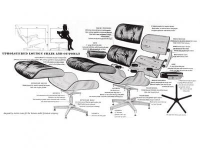 Eames Exploded Eames Lounge Chair Lounge Chair Eames Chair