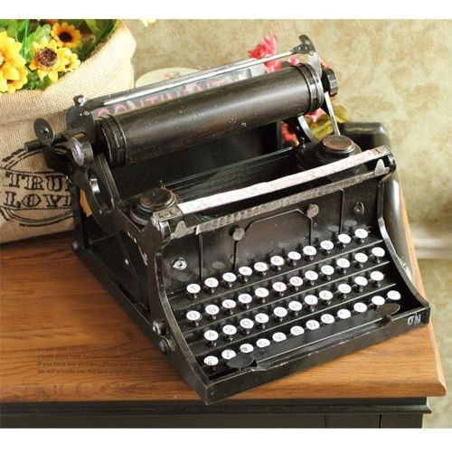 Vintage Antique Style Large Typewriter Metal Model Memory of Old Times Decoration Gift - Gadgets-Novelty - TopBuy.com.au