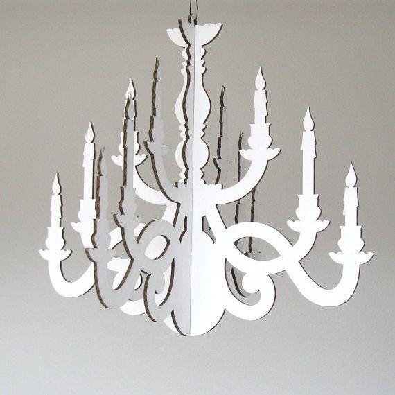 cardboard chandelier - Google Search | lighting | Pinterest ...