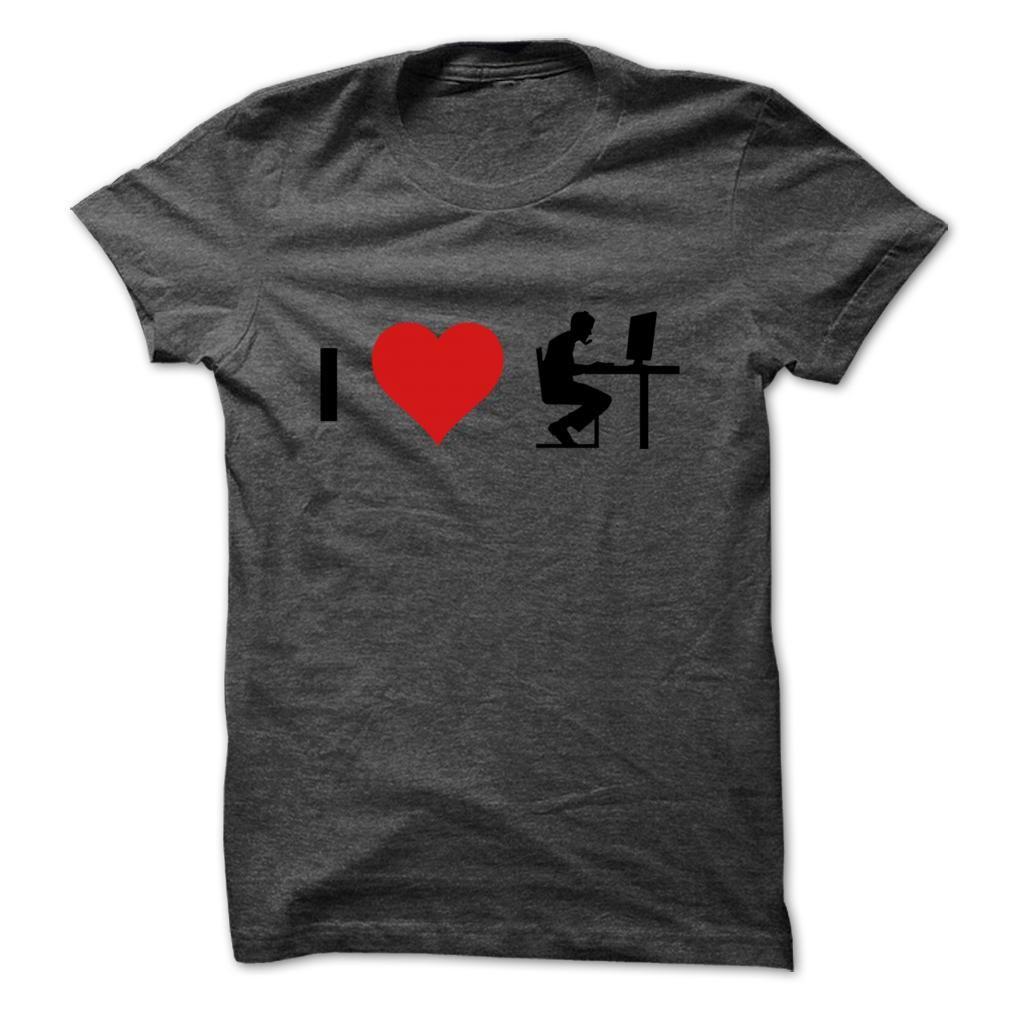 I Love Computer T Shirt