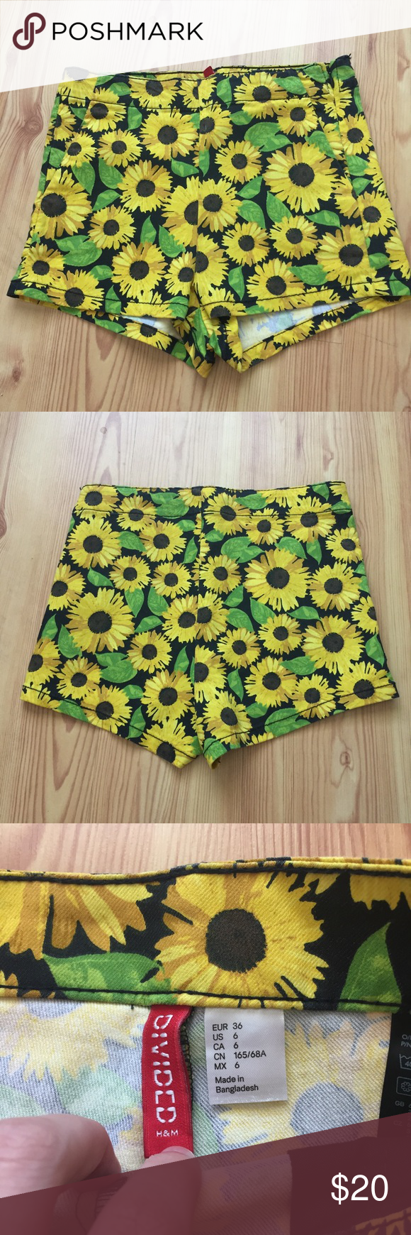 H&M Sunflower Shorts B10 Super cute sunflower 🌻 shorts in ...