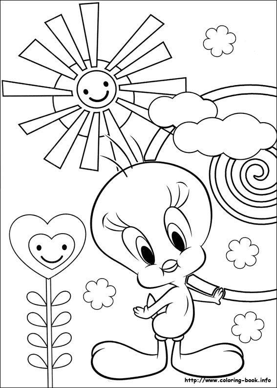 Tweety Coloring Picture Babys Pinterest Boyama Sayfaları