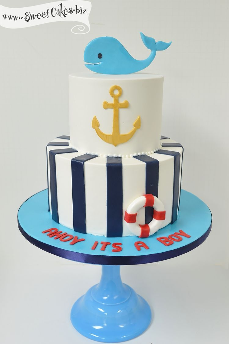 Ahoy Its A Boy Baby Shower Cake  Baby Shower Cakes For -4467