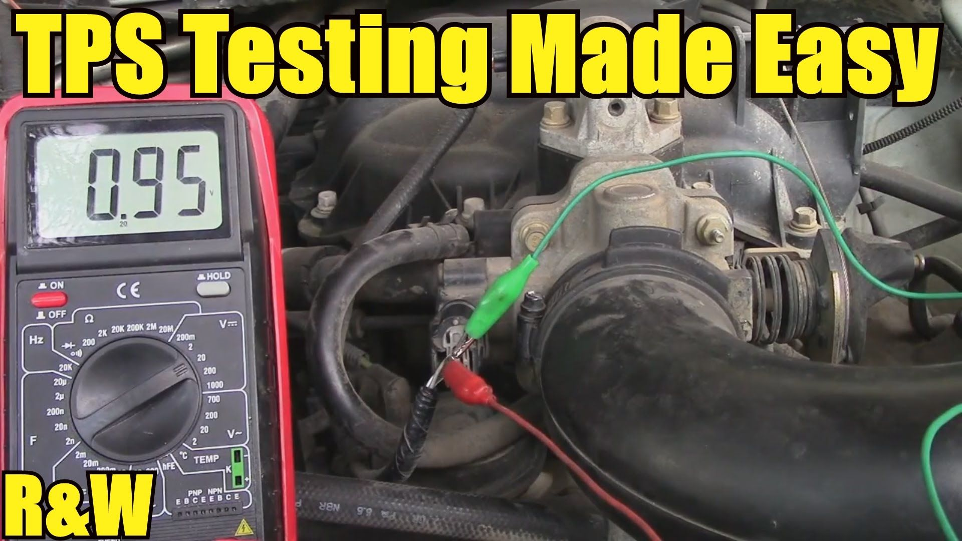 How To Test A Throttle Position Sensor Tps With Or Without Auto Repair Electrical Wiring