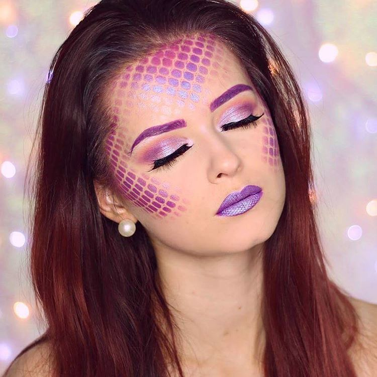 Mermaid Makeup Tutorial By Hollysamanthaa Featuring Beautiful Fish Scales And Gwa Lashes Gwalo Mermaid Makeup Mermaid Makeup Halloween Mermaid Makeup Tutorial
