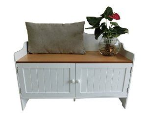 Homecharm Intl Hc 038 Storage Bench White Veneer Top