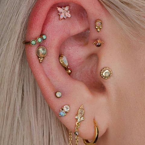 Newest Cost-Free Cartilage Piercings flat Style  When a regular piercing isn't adequate, if you want to help inside the initial ante with their neat aspect  #Cartilage #CostFree #flat #Newest #Piercings #style #earpeircingscartilage