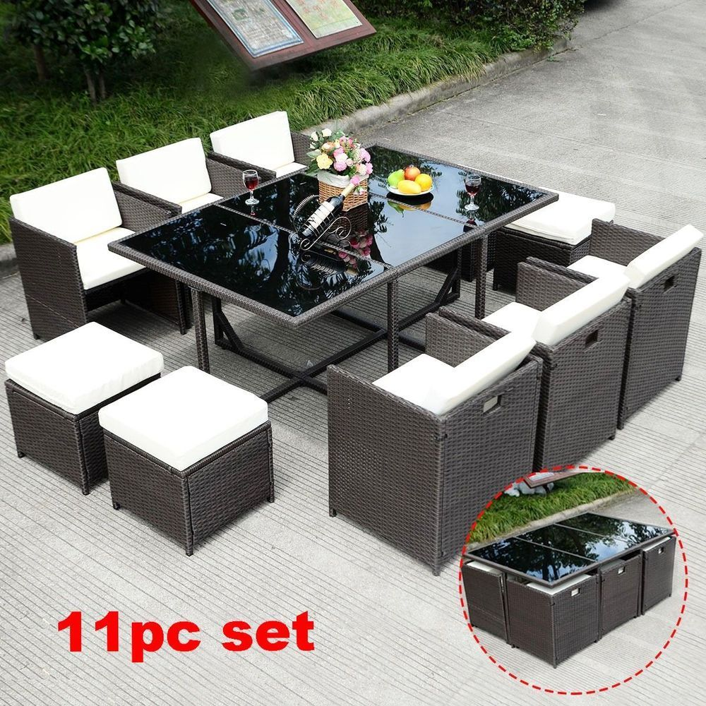 Large Patio Dinning Set Wicker Rattan Outdoor Clearance Party Bb Seat Furniture Largepatiodi Clearance Patio Furniture Summer Furniture Outdoor Furniture Sets