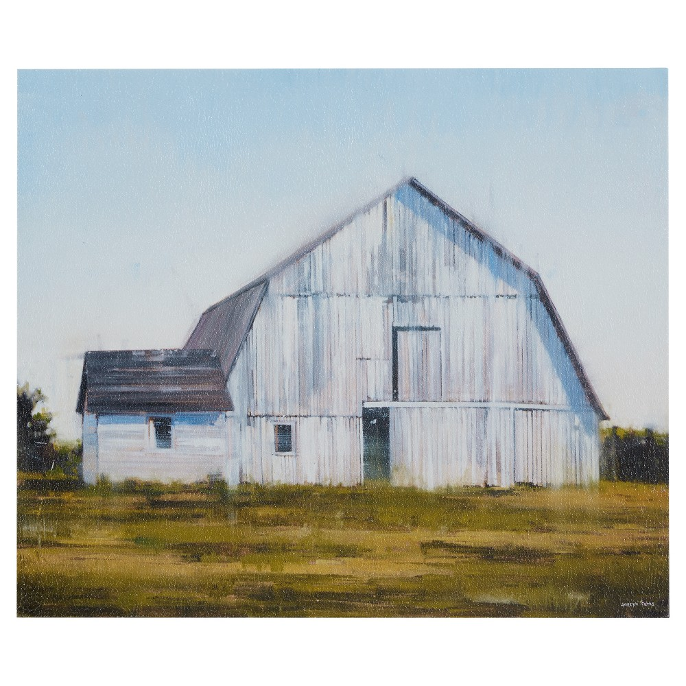 Unframed Wall Canvas 23 23 X 2 17 X 2 2 Barn Painting Wall Canvas White Barn
