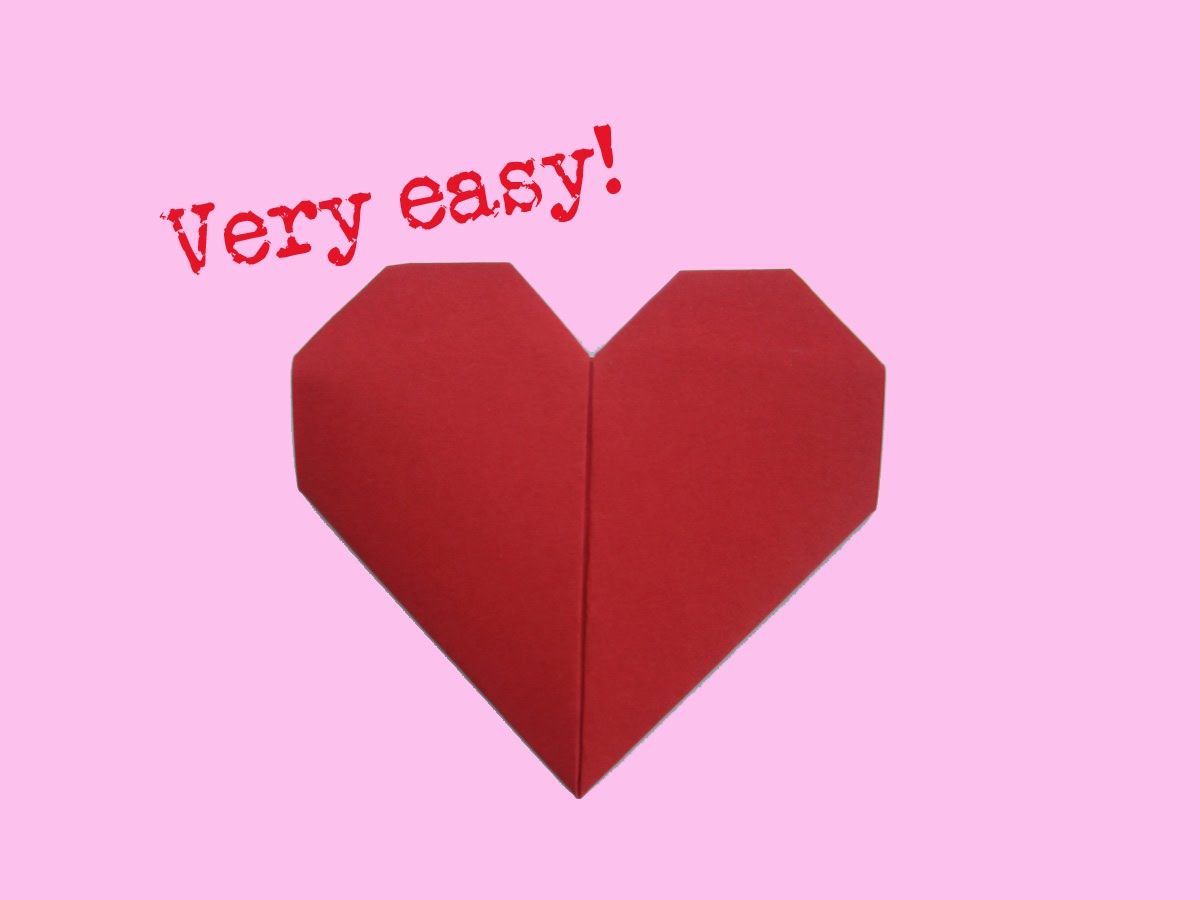 Fold heart - very easy way - how to make a paper heart ... - photo#22