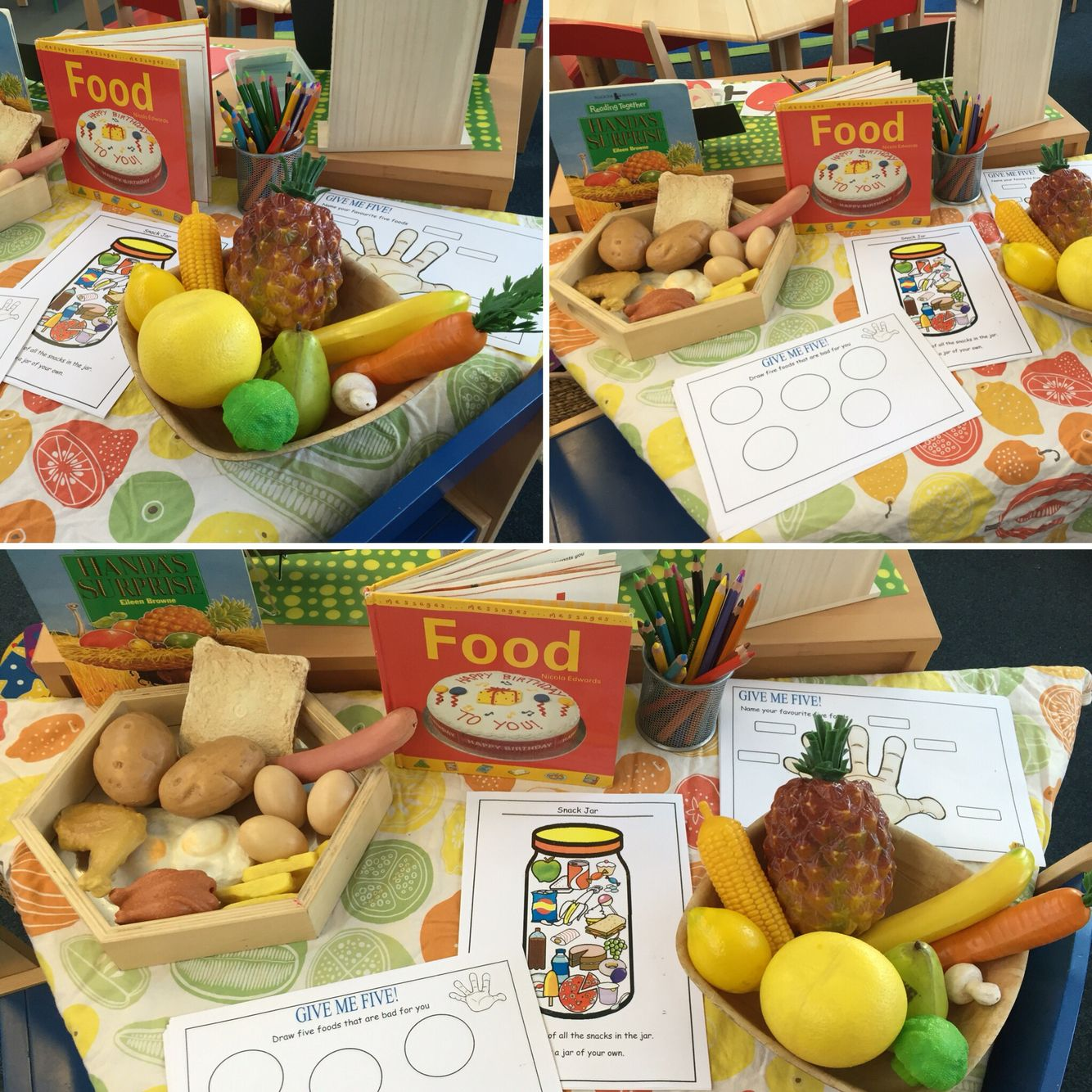 Healthy Eating Topic Investigation Table Food Book Handas