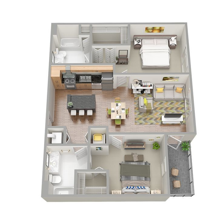 3D Floor Plans (With images) Sims house plans, Sims 4