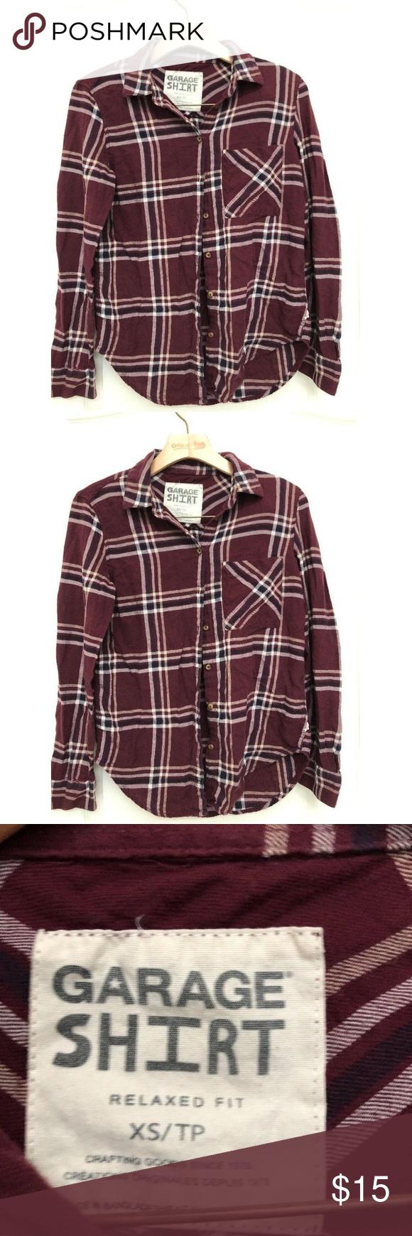Flannel shirt xs  Garage Women Soft Plaid Lumberjack Blouse Shirt XS  My Posh Closet
