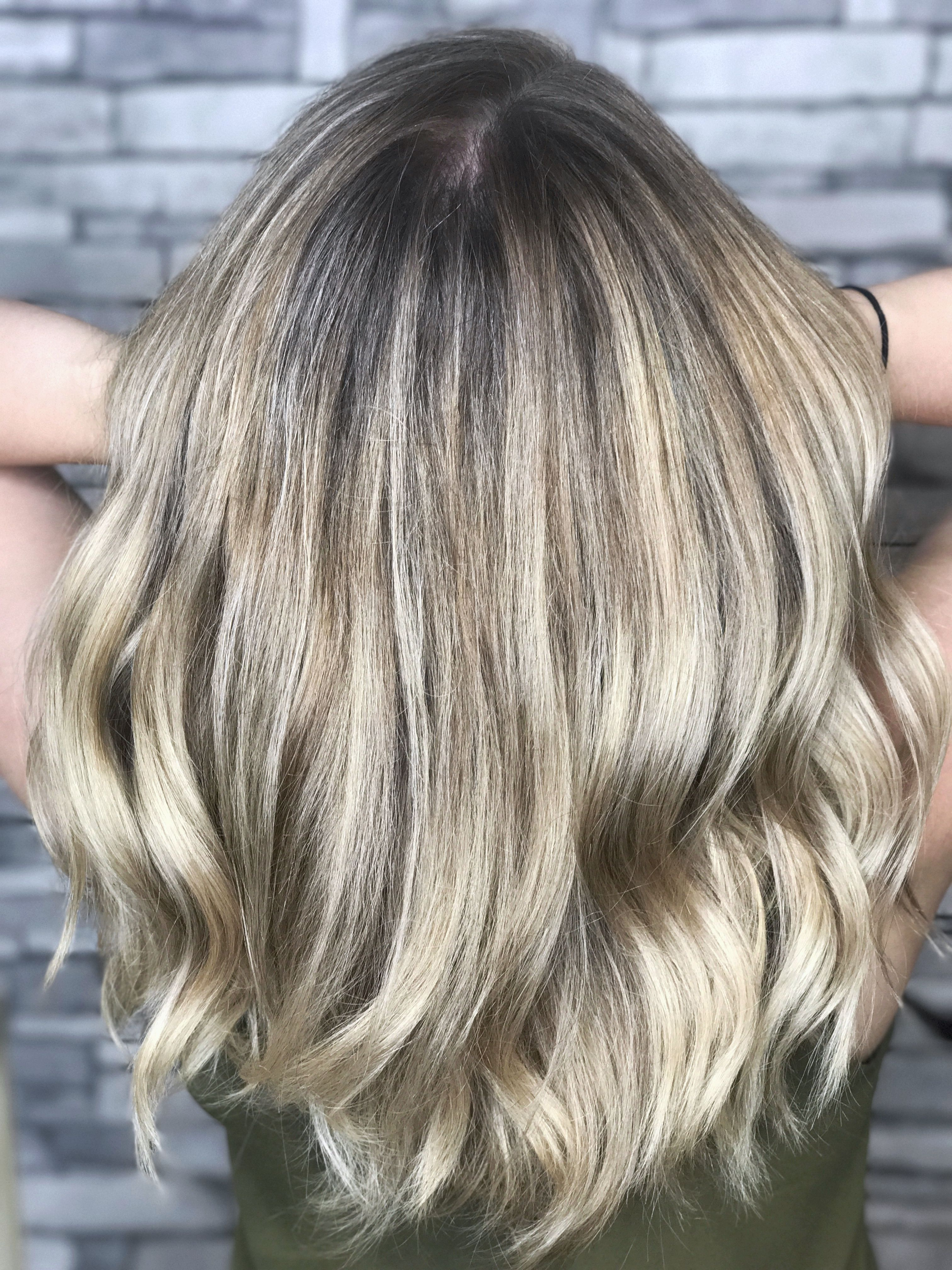 Full Highlight And Shadow Root With Redken Shades Eq 7p