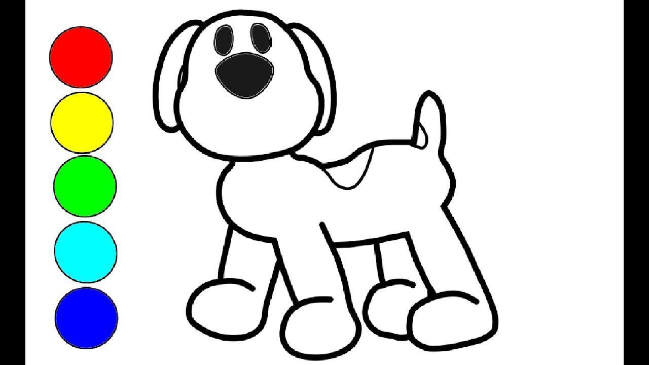Pocoyo Hund Zeichnen Und Malen Fur Kinder Zeichnen Hund Hund Malen Hund Zeichnen Kinder Zeichnen