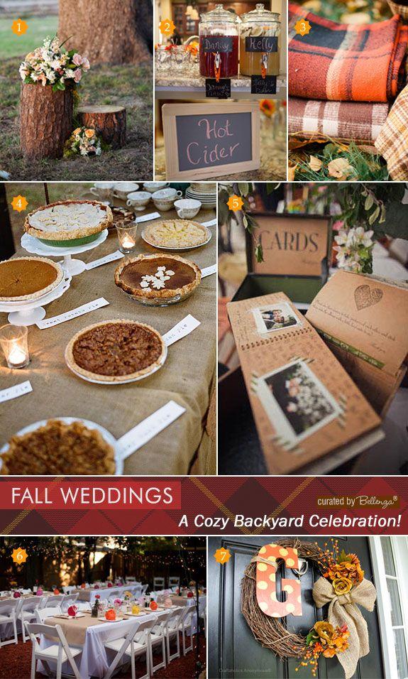 Small Fall Backyard Wedding Ideas | Fall wedding, Online ...
